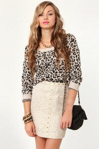 Tweed-ful Things Studded Gold Skirt at Lulus.com!