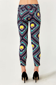 Baroque Steady Scarf Print Cropped Jeans at Lulus.com!