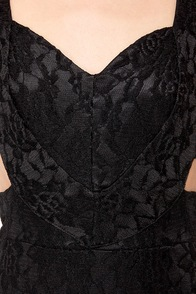 Set to Stun Cutout Black Dress at Lulus.com!