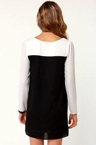 All in Good Fundamentals Ivory and Black Dress at Lulus.com!