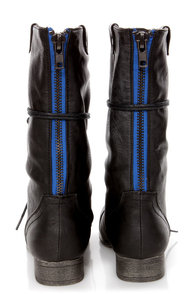 Madden Girl Gemiini Black Lace-Up Convertible Combat Boots at Lulus.com!