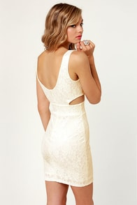 Set to Stun Cutout Ivory Dress at Lulus.com!