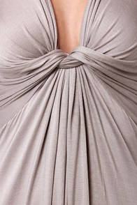 With a Twist Light Grey Maxi Dress at Lulus.com!