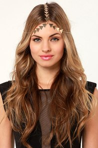 Feeling Opti-Mystic Gold Headpiece at Lulus.com!