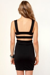 Exceeding Ex-Spike-tations Studded Black Dress at Lulus.com!