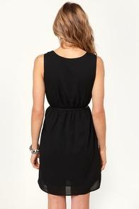 Starry Night Studded Black Dress at Lulus.com!