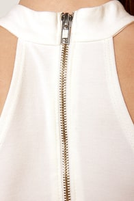 LULUS Exclusive Body-Con Artist Ivory Halter Dress at Lulus.com!