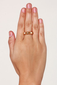 Spikes and Dis-pikes Studded Gold Ring at Lulus.com!