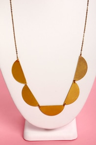 Half Moon Lagoon Gold Necklace at Lulus.com!