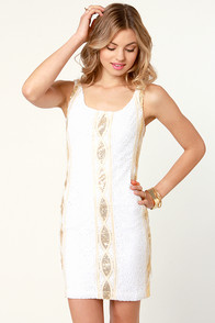 Proper Glamour White Sequin Dress at Lulus.com!