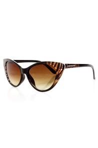 Catcalls Brown Zebra Cat-Eye Sunglasses at Lulus.com!