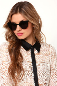 Precious Metals Black Sunglasses at Lulus.com!