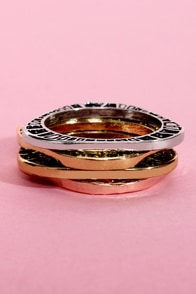 Stack Attack Ring Set at Lulus.com!