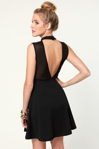 Noir-vel to Behold Cutout Black Dress at Lulus.com!