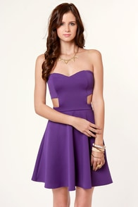 purple strapless dresses for women « Bella Forte Glass Studio
