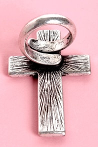 Mink Pink Infinity Forever Silver Cross Ring at Lulus.com!