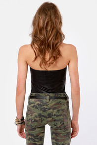 Obey Desert Rain Black Tube Top at Lulus.com!