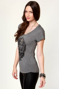 Obey Peace Phoenix Grey Print Tee at Lulus.com!