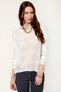 First Snowfall Ivory Sweater at Lulus.com!