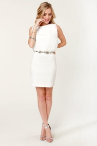Top of Your Classy Ivory Beaded Dress at Lulus.com!