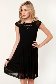 Turn on the Charm Black Dress at Lulus.com!
