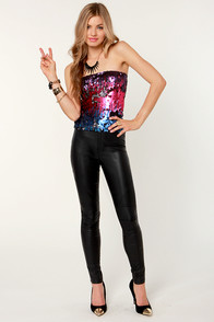 Treasures Untold Multi Sequin Tube Top at Lulus.com!