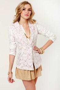 White Lace Blazer | Fashion Ql