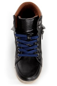 Bamboo Graphic 01 Black Lace-Up High Top Sneakers at Lulus.com!
