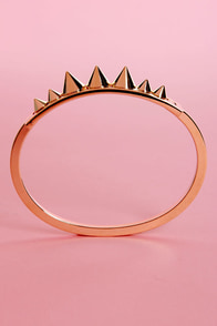 Hot and Spiky Gold Spike Bracelet at Lulus.com!