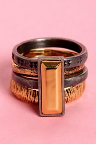 Obey Desert Warrior Mixed Metal Ring Set at Lulus.com!