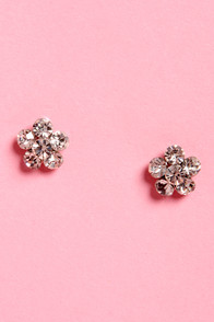 Jewel to be Kind Rhinestone Earrings at Lulus.com!