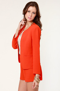 Aryn K Citrus'd and Shout Orange Blazer at Lulus.com!