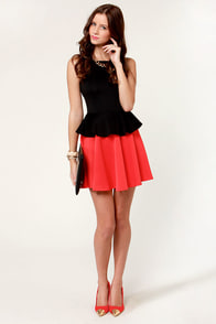 LULUS Exclusive Flare-y Tale Black and Red Dress at Lulus.com!