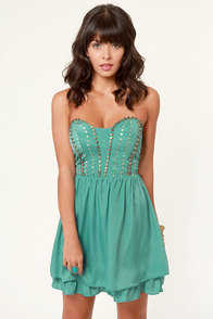 Winter Solstice Beaded Teal Dress at Lulus.com!