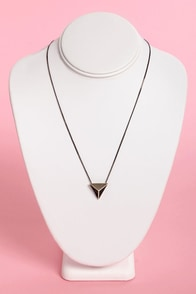 Ra's Retreat Black and Gold Stud Necklace at Lulus.com!