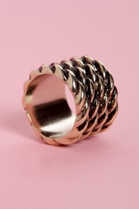Rope for the Best Gold Ring at Lulus.com!
