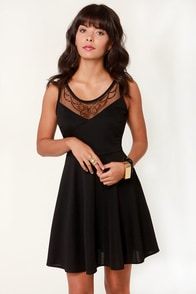 Regal Eye Beaded Black Dress at Lulus.com!