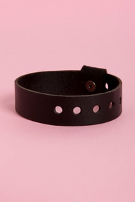 Amy Waltz Jam Band Black Leather Cuff Bracelet at Lulus.com!