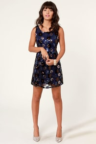 Perennial Party Blue Sequin Dress at Lulus.com!