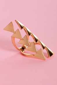 Point Palette Gold Ring at Lulus.com!