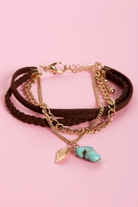 Rock On Brown and Turquoise Bracelet at Lulus.com!