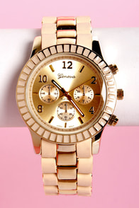 On Your Side Beige and Gold Watch at Lulus.com!