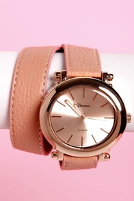 Oh Snap! on the Wrist Wraparound Pink Watch at Lulus.com!