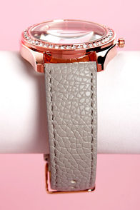Tick Tock of the Town Grey and Rose Gold Watch at Lulus.com!
