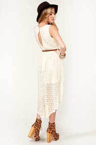 Creme de Coconut Cream High-Low Dress at Lulus.com!