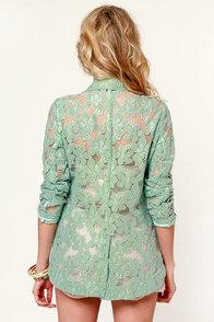 Peyton Lace Sage Green Lace Blazer at Lulus.com!