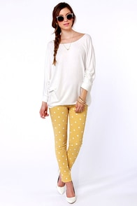 Novel-Tee Shop Ivory Top at Lulus.com!