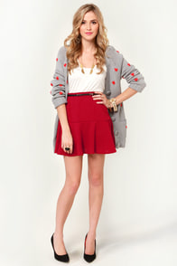Fit as a Fiddle Flared Red Skirt at Lulus.com!