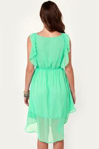 Life Can Be Ruffles Mint Green Midi Dress at Lulus.com!