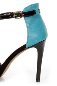 Jessica Simpson Sawana Tomato Red & Ocean Blue High Heels at Lulus.com!